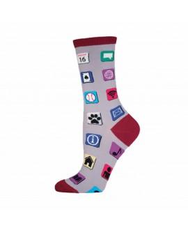 Носки Socksmith «Компьютерные иконки»  серые