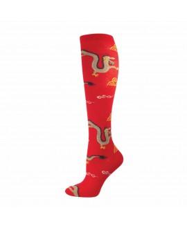 Гольфы Socksmith «Китайский Дракон» красные