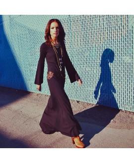 Макси-платье For Love and Lemons «Малхолланд драйв» черное