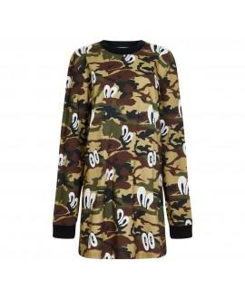 House Of Holland Camo T-Shirt Dress