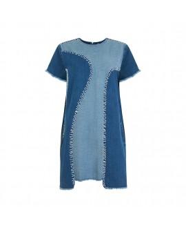 Джинсовое платье с пэчворком House Of Holland