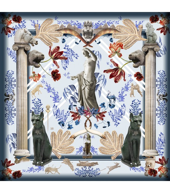 Платок Klements x British 'Museum', 140x140