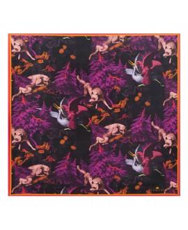 Платок Klements «Беловежа», 90x90, шелк