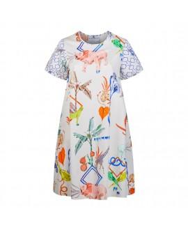 Платье Klements «Фрида» в расцветке «Блокнот Джунглей»