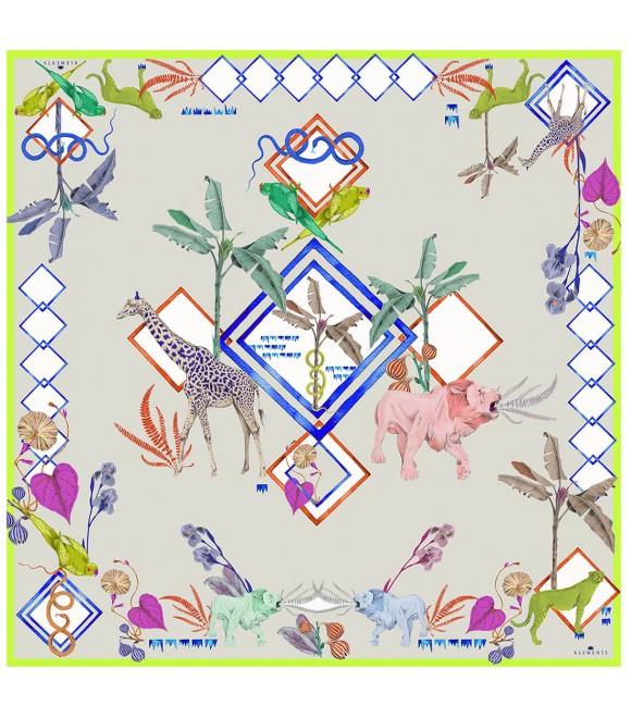 Платок Klements «Блокнот джунглей», 140x140, шелк