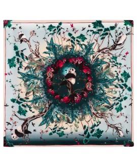 Платок Klements «Дворец панд», 140x140, шелковый шифон