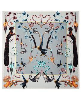 Платок Klements 'Rainbow Trout', 140x140, шелк
