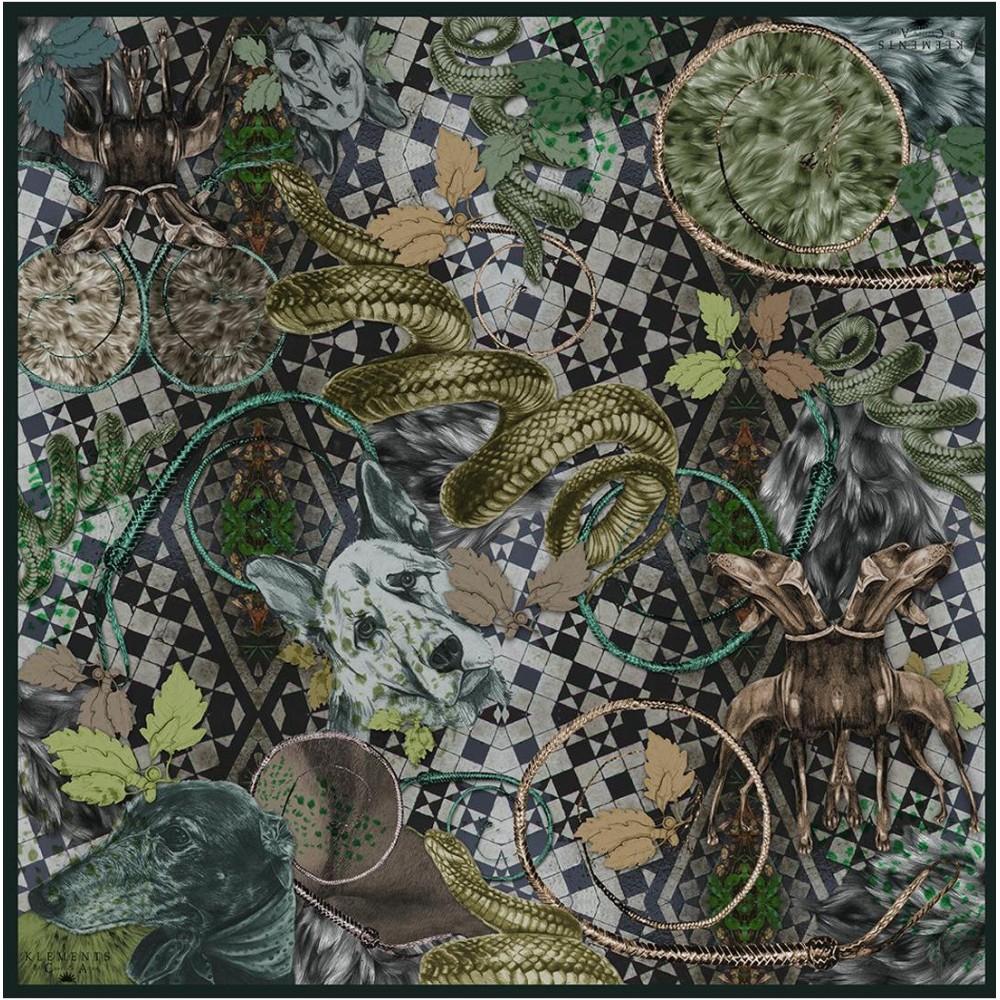 Платок Klements «Парк Виктории», 140х140, кашемир