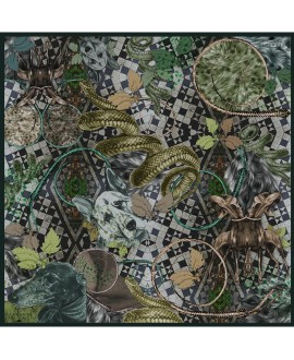 Платок Klements «Парк Виктории», 140х140, шелк