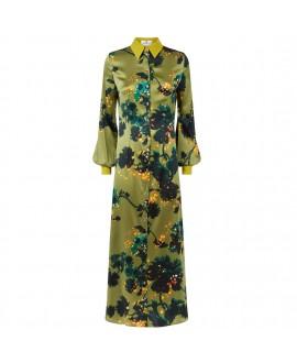 Платье Klements «Варшава» в расцветке «Готические цветы, охра»