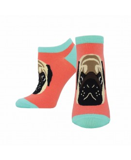 Носочки Socksmith «Мопс» персиковые