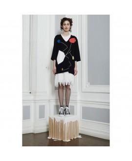 Топ-платье Peter Jensen с V-вырезом черное
