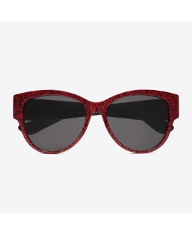 Очки Saint Laurent SL Monogram M3 009 Glitter красный блестящий