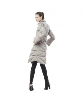 Пуховое пальто Snowman New York 'Sideway' серебристо-серое