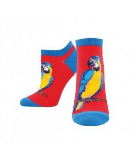 Носочки Socksmith «Попугаи» красные