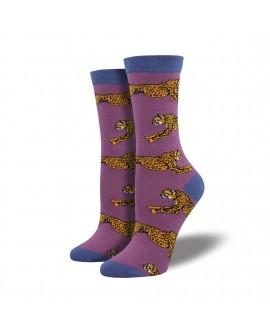 Носки Socksmith «Гепарды» бамбуковые лиловые