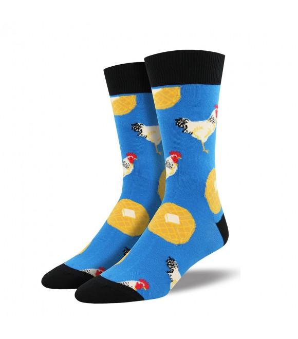 Мужские носки Socksmith «Вафли с курицей» синие