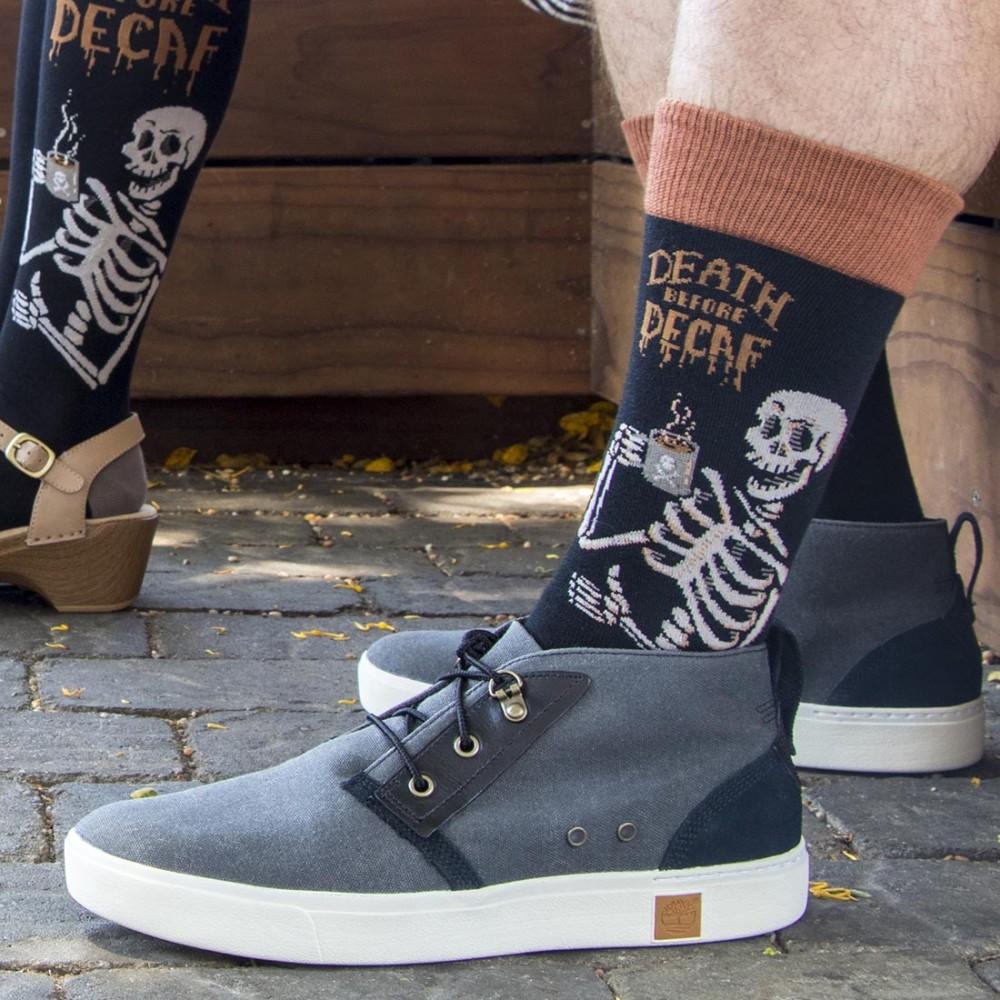 Мужские носки Socksmith «Смерть без кофеина» черные