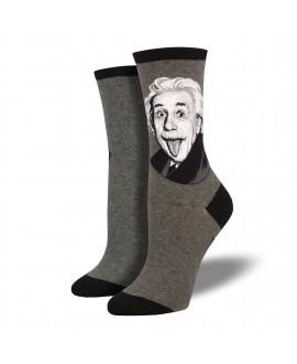 Носки Socksmith «Портрет Эйнштейна» серые