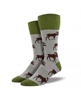 Мужские носки Socksmith «Лось» серые (серия Outlands)