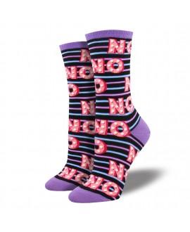 Носки Socksmith «Нет» малиновые