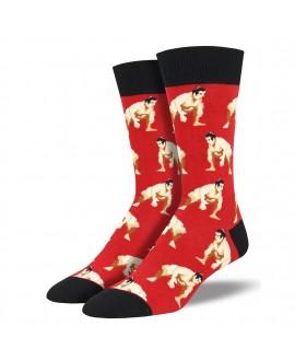 Мужские носки Socksmith «Сумо» красные