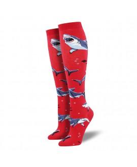 Гольфы Socksmith «Акулы» красные