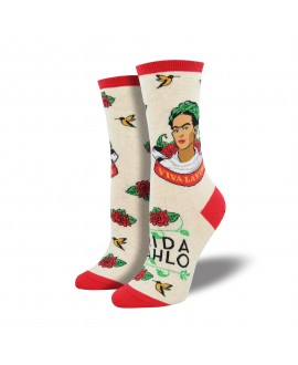 Носки Socksmith «Viva la Frida» бежевые