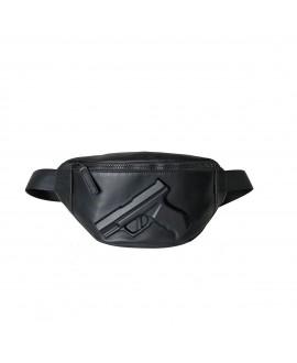 Поясная сумка Vlieger & Vandam c пистолетом черная (НА ЗАКАЗ)