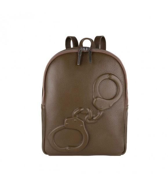 Мини-рюкзак Vlieger & Vandam с наручниками в цвете мха