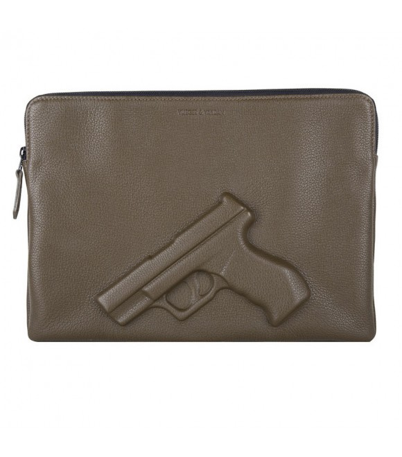 Футляр для лэптопа Vlieger & Vandam 13'' с пистолетом, мох
