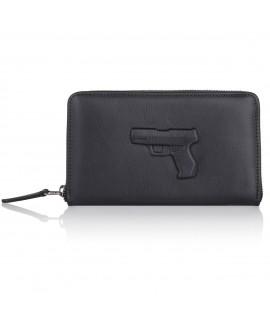 Портмоне Vlieger & Vandam 'Gun' черное