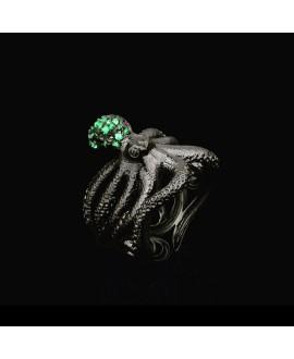Кольцо Alchemica с большим осьминогом