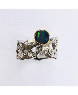 Кольцо Alchemica с черным опалом