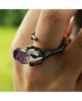 Кольцо Alchemica «Слезы матери драконов» с аметистом