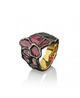 Кольцо Alchemica «Витраж» с рубином