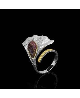 Кольцо Alchemica «Гинкго»