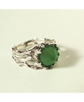 Кольцо Alchemica «Вершина» с зеленым ониксом