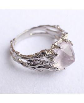 Кольцо Alchemica «Вершина» с розовым кварцем