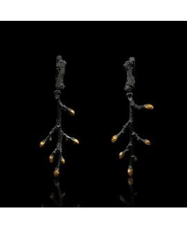Серьги Alchemica «Весенняя ветвь» (НА ЗАКАЗ)
