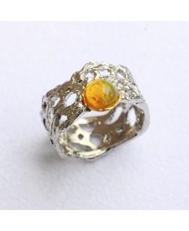 Кольцо Alchemica с желтым опалом