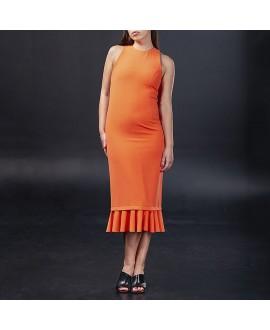 Платье Antipodium «Жестокое лето» коралловое удлиненное