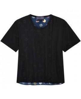 Футболка Antipodium 'Hackney Spot' черная с синим