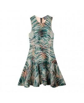 Платье Antipodium 'Pixel' с узором 'Tiger Byte'