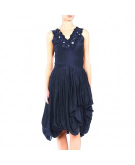 Платье Bolongaro Trevor с декором на декольте