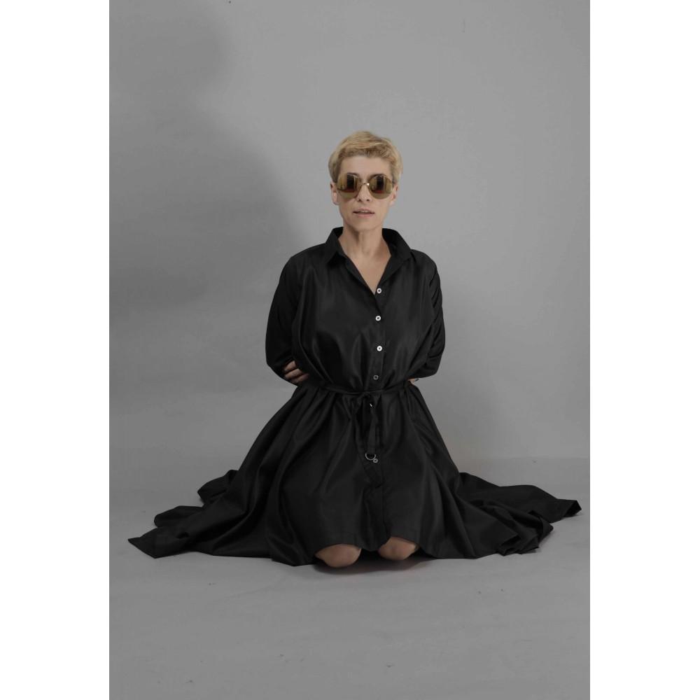 Платье-квадрат Bolongaro Trevor черное - Фото 3