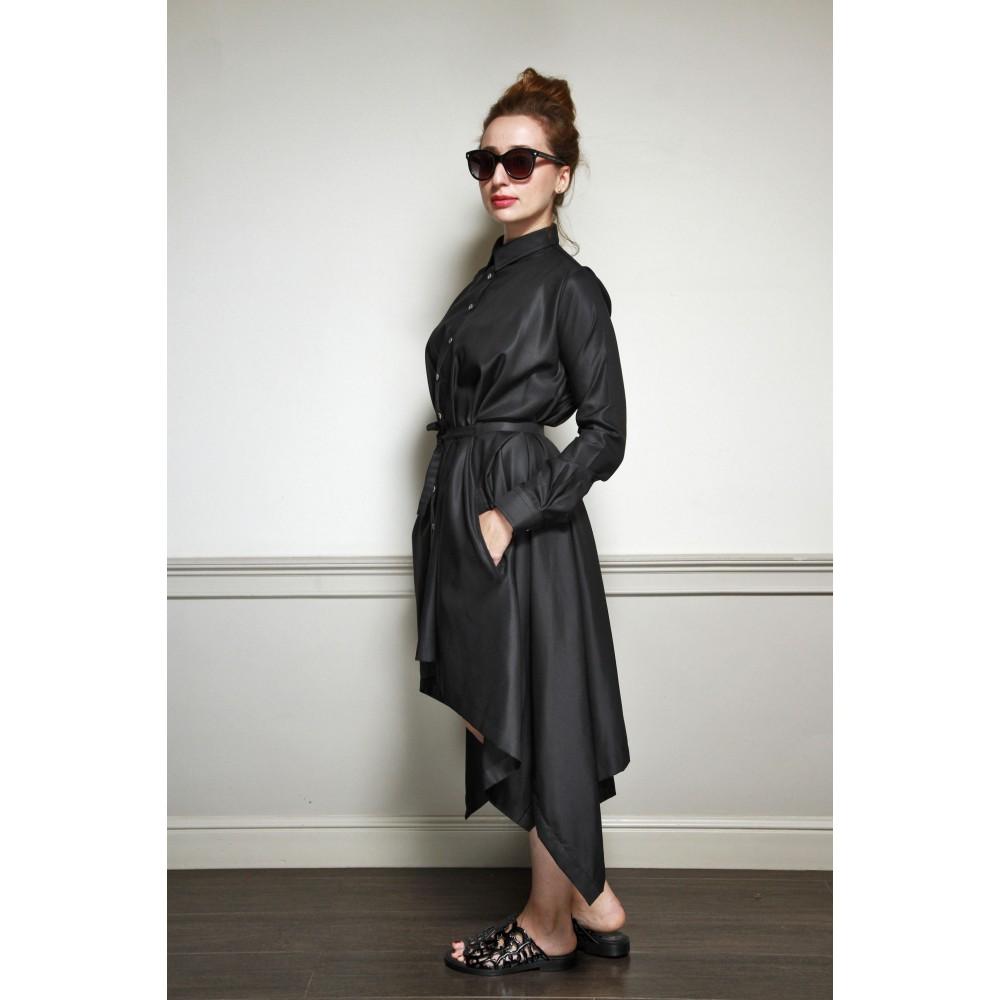 Платье-квадрат Bolongaro Trevor черное - Фото 2