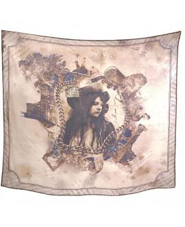 Платок Bolongaro Trevor «Амулеты», 135 х 135, шелк-коттон