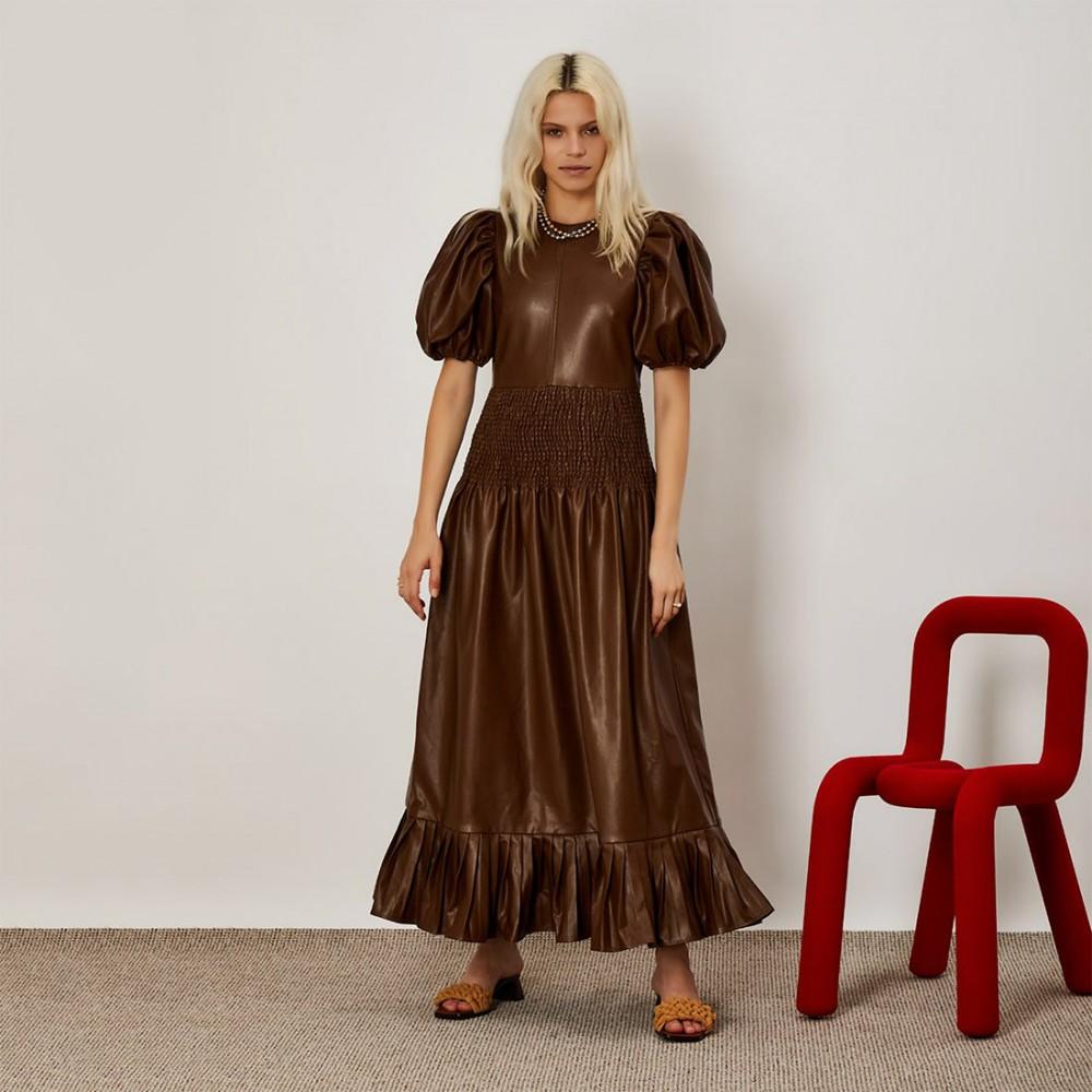 Платье Ghospell из экокожи