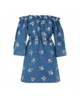 Платье House Of Holland джинсовое с открытыми плечами